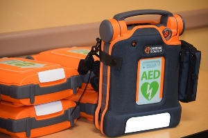 AED machine close up