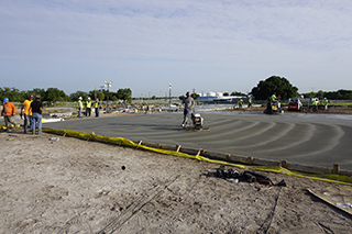 Concrete pour for foundation of CRDC