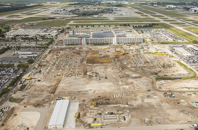 Aerial photo shows ConRAC progress