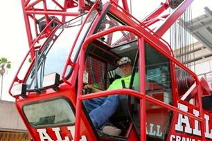 Crane operator Jim Waliga