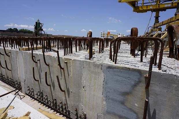 Concrete and Rebar galore at the Taxiway J Bridge