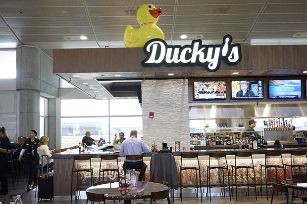 Ducky's open at Airside A