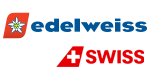 Edelweiss and Swiss Air logos