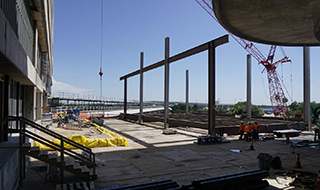 Northeast steel beams going up
