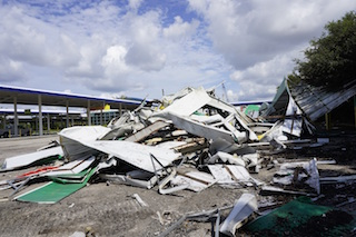 Rental Car service center demolition