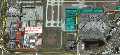 Service Road closure map at TPA-Sept 2015-web