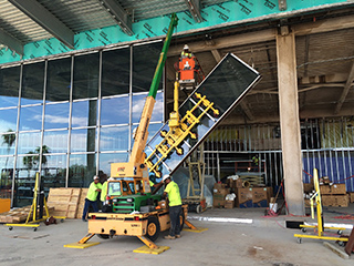 West Tampa Glass starts installation of their panels