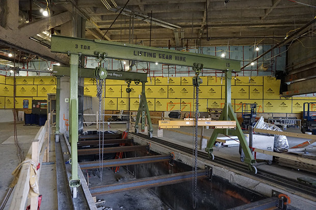 Steelwork on Westside for future Food Court space