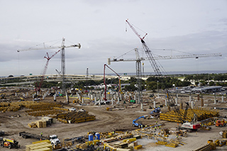 Multiple ConRAC cranes