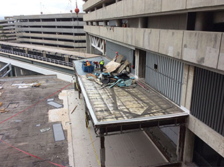Removing insulation from the main terminal's east side
