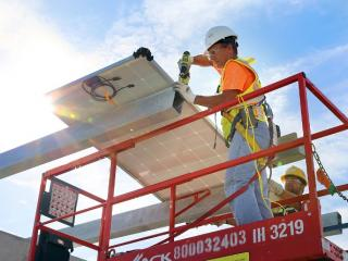 Solar panel installation at TPA