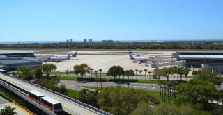 TPA view facing west and Runway 1L-19R