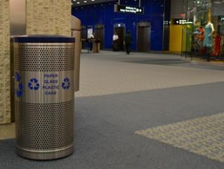 Recycling bin at TPA