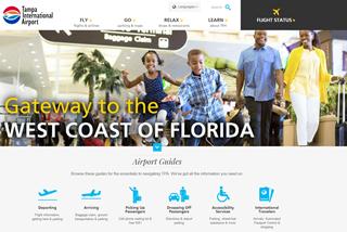 New airport website screenshot